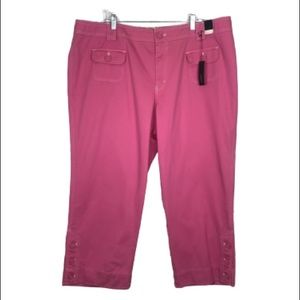 LANE BRYANT Pink Crop Pants